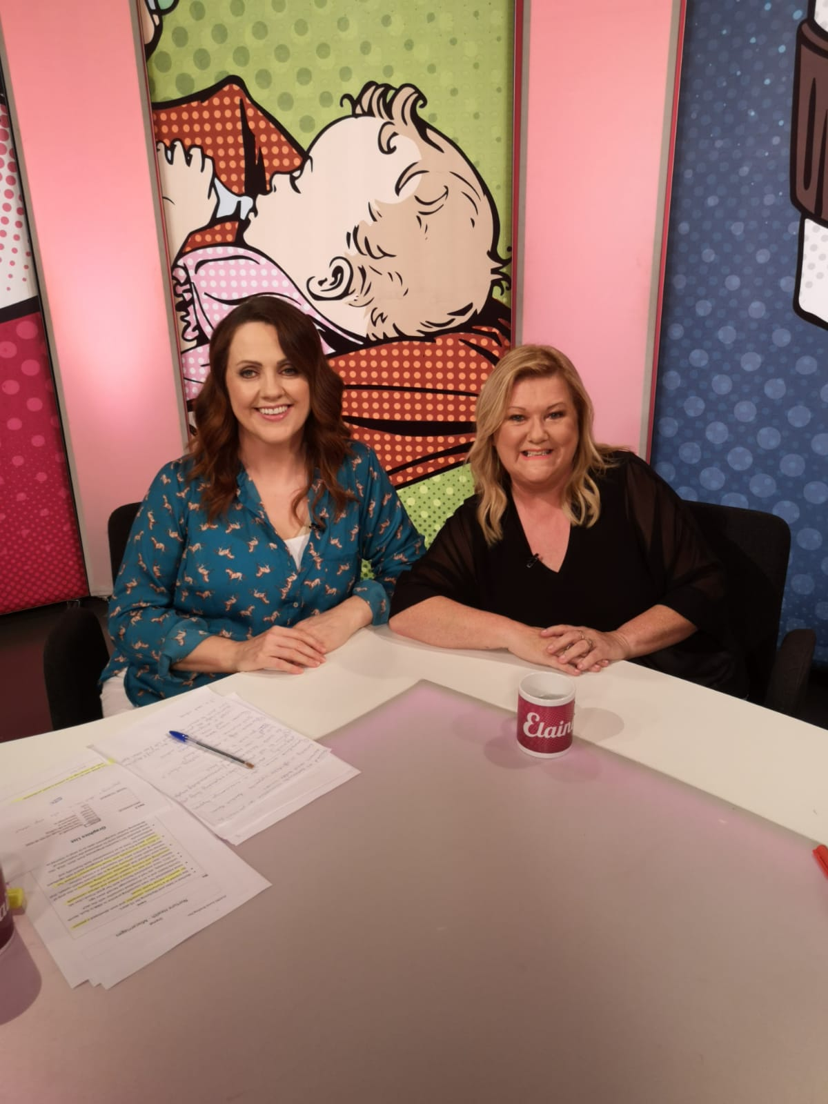 Irene Lowry talking about Miscarriage on The Elaine TV Show with Ruth Scott